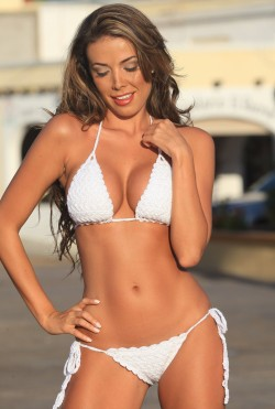 White French Riviera Crochet Bikini