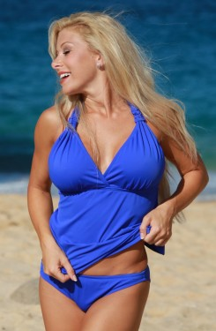 Royal Open Back Tankini