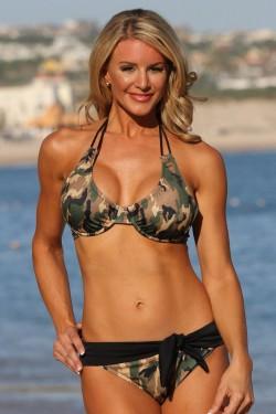 Camo Underwire Belted Bikini