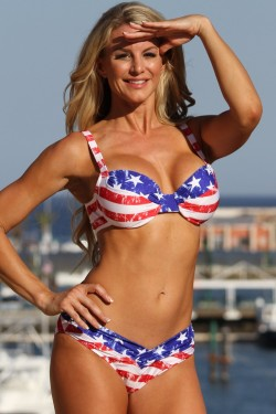 American Underwire Vintage Stars and Stripes Bikini