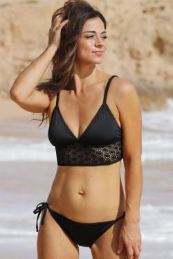 Lace Crop Top Bikini