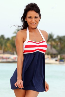 Sailor Girl Swim Dress