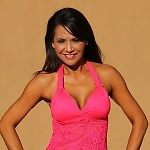 Watermelon Lace Open-Back Tankini