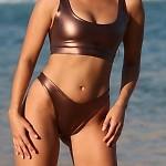 Easee Fit Bronze Action Thong Bikini Bottom