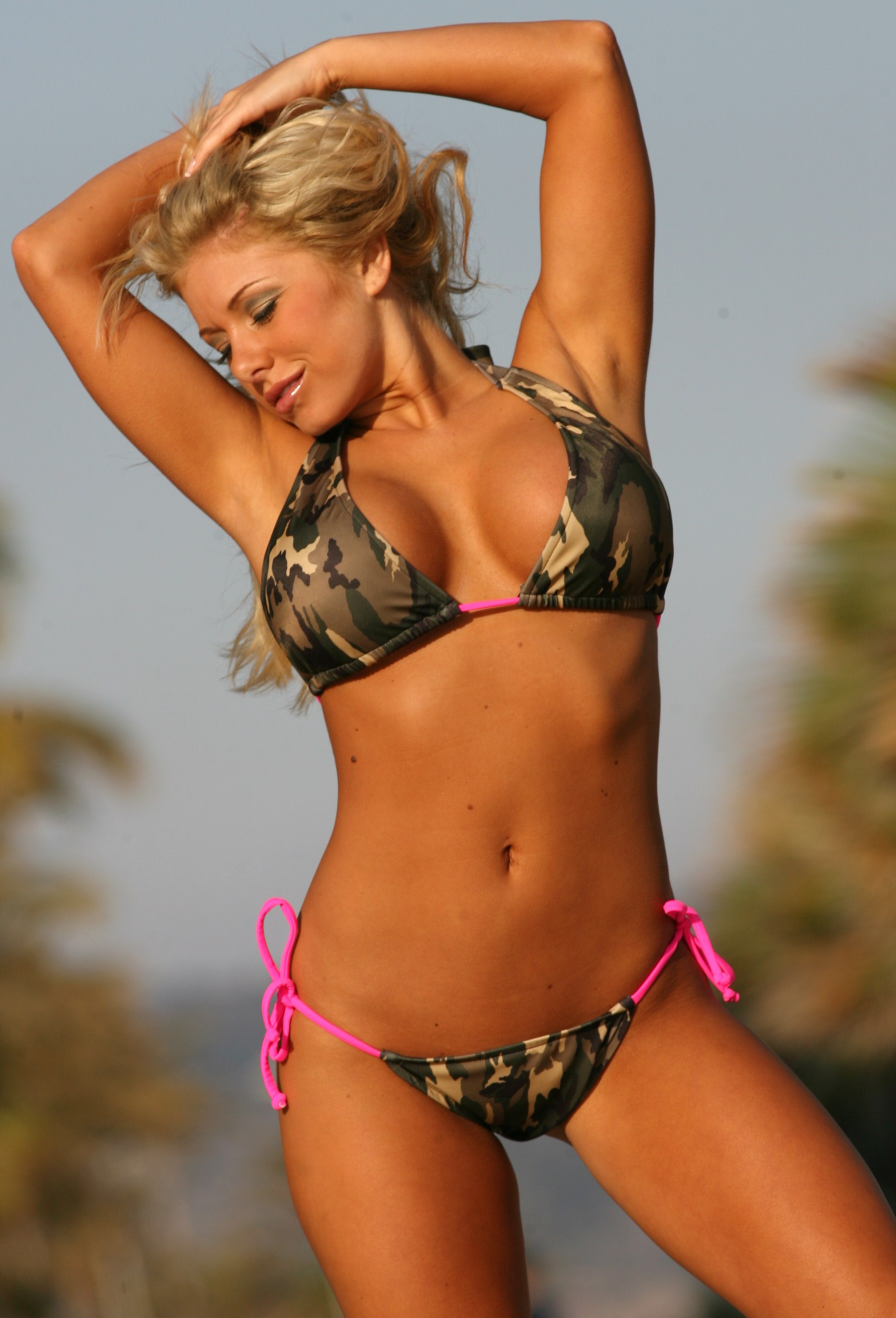 Camo Colombian Side Tie String Bikini