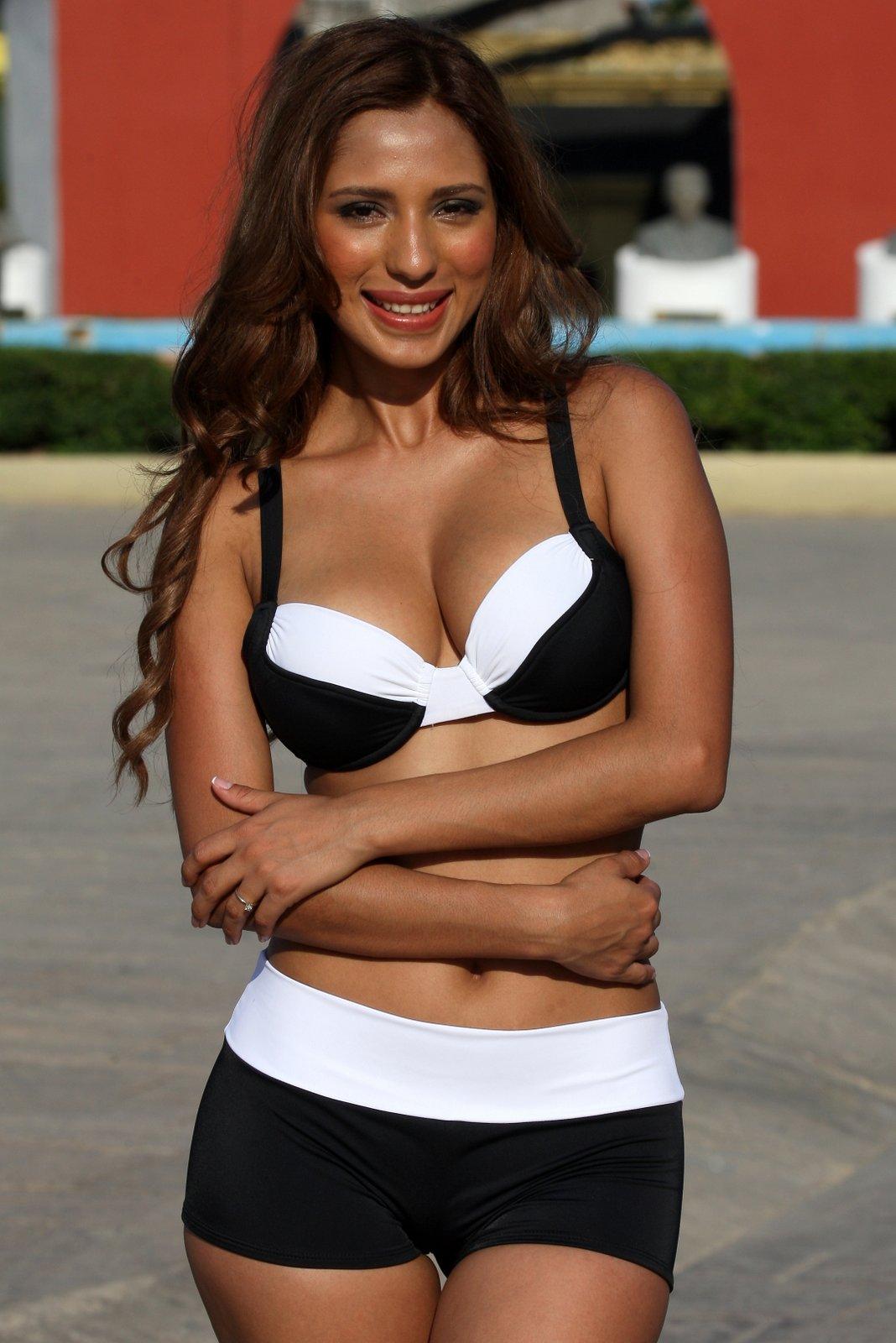 Black and White Banded Bikini