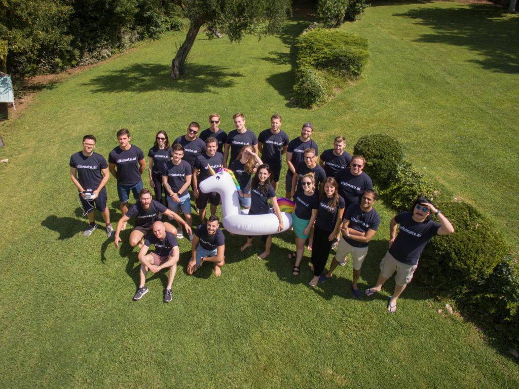Team shot drone