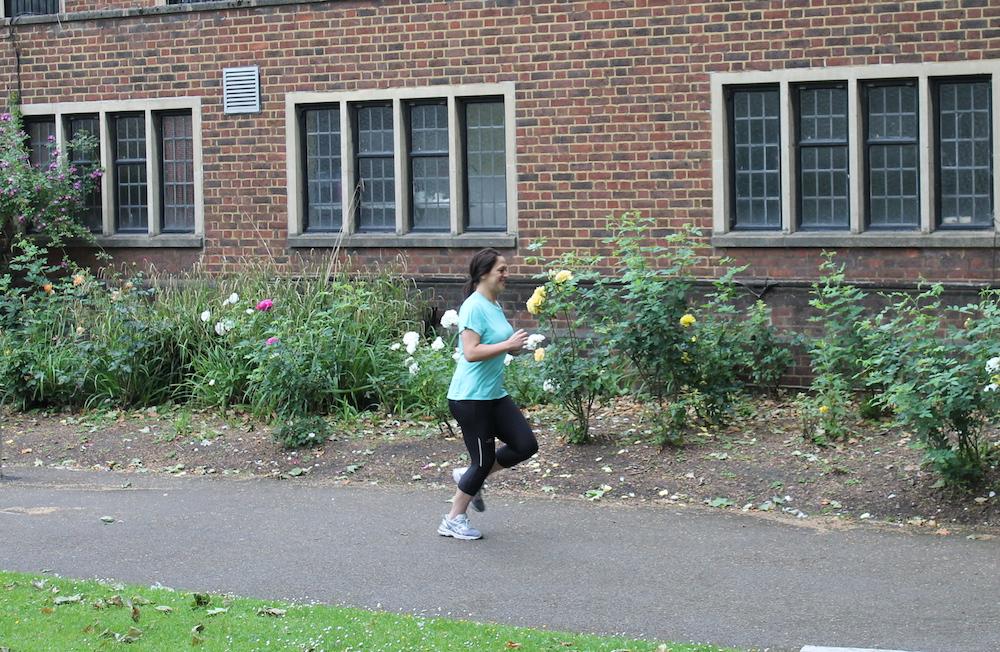 Amanda running