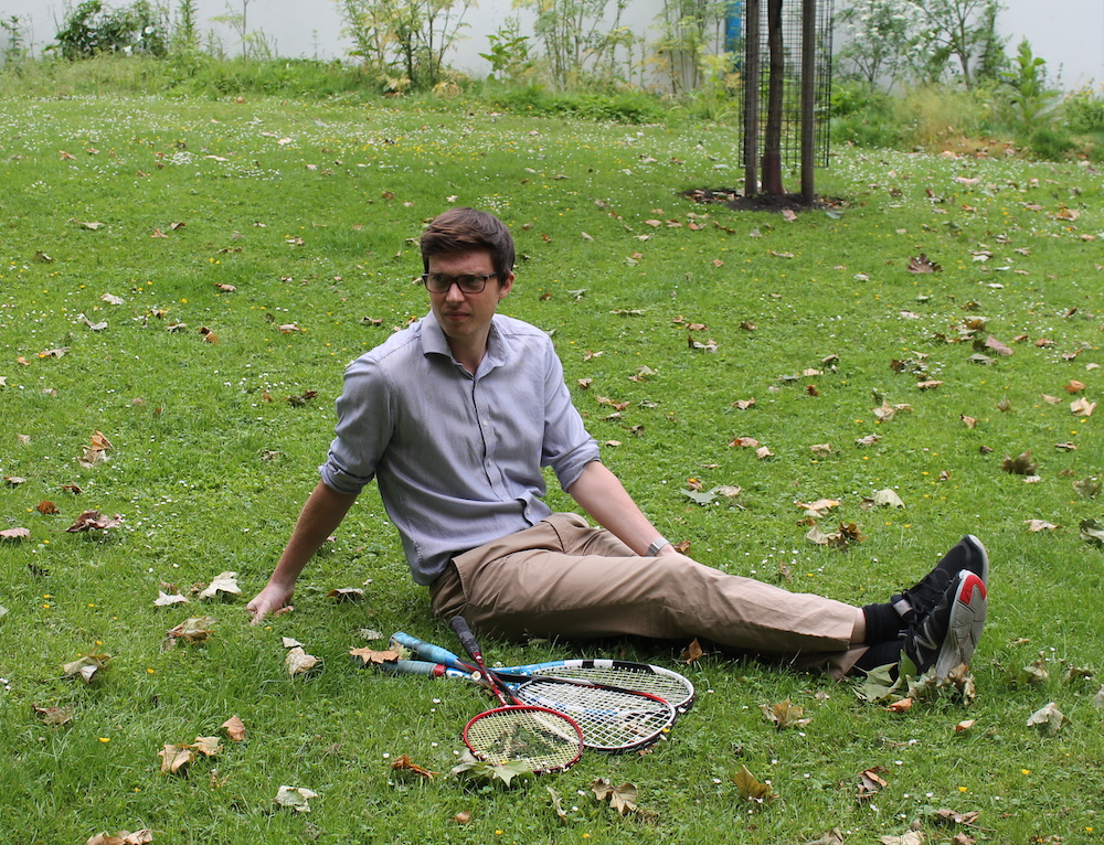 Joe with his rackets