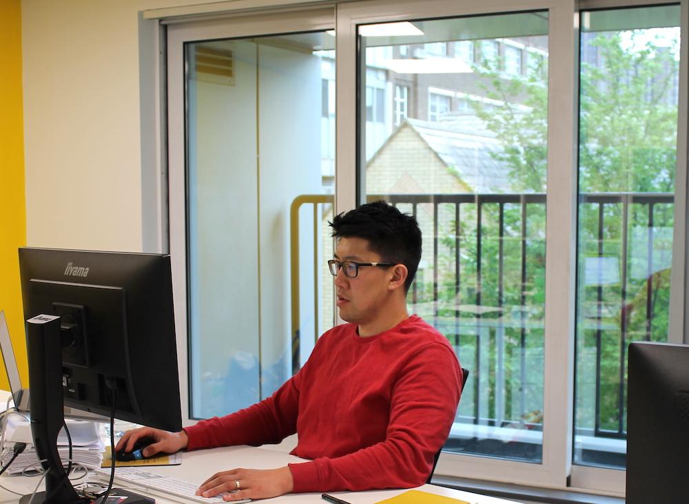 Shaun at desk