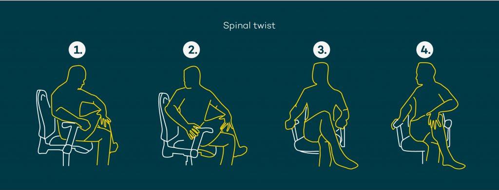 Desk stretches - spinal twist
