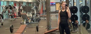 Polly at the gym