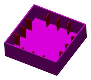 CAD zeichnung Kasteinfall