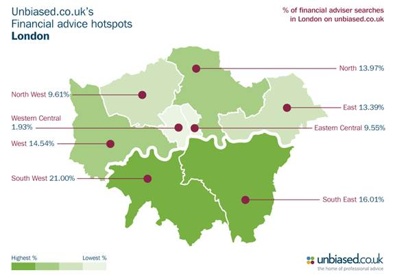 London Sw Map.Sw London Revealed As The Capital S Financial Advice Hotspot