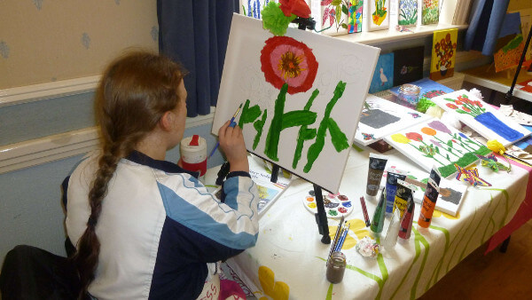Painting a Flower