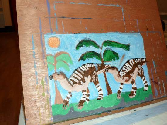 Completed Dinosaur Painting