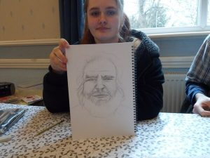 Laura's Drawing of Face