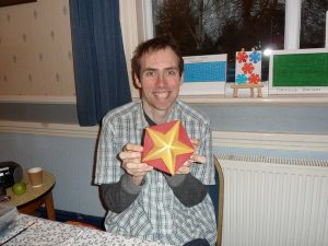 Painted carving of star