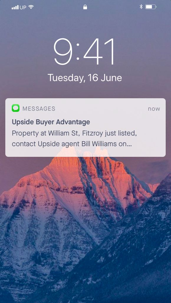 iPhone SMS notification