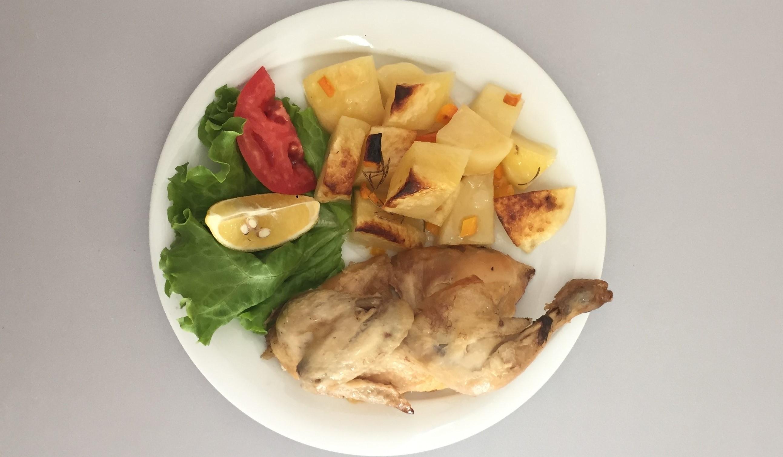 1 e 2 pulë dhe patate
