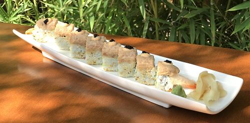 Karkaleca tempura,tartar toni, havjar