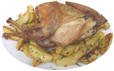 Zog fshati me patate, për 3 ose 4 persona, koha e përgatitjes 40 minuta