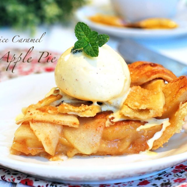 Lattice caramel apple pie 640x640