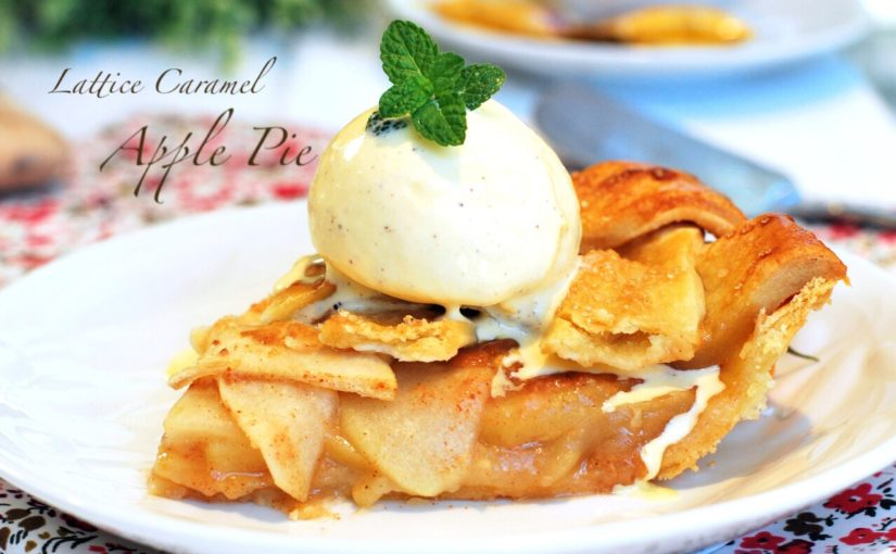 Lattice caramel apple pie 825x510