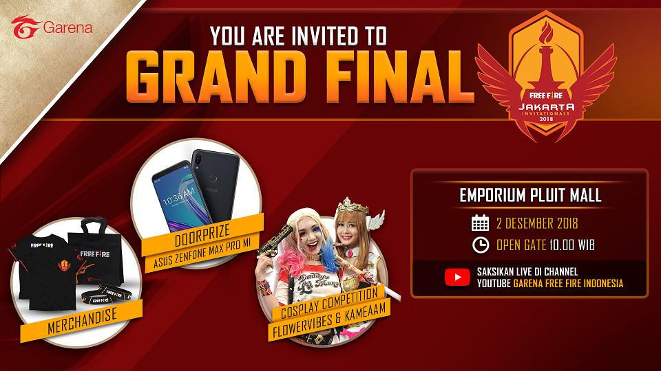 Alasan Kenapa Kalian Harus Menyaksikan Langsung Grand Final Free Fire Jakarta Invitationals 2018 Di Emporium Pluit Mall