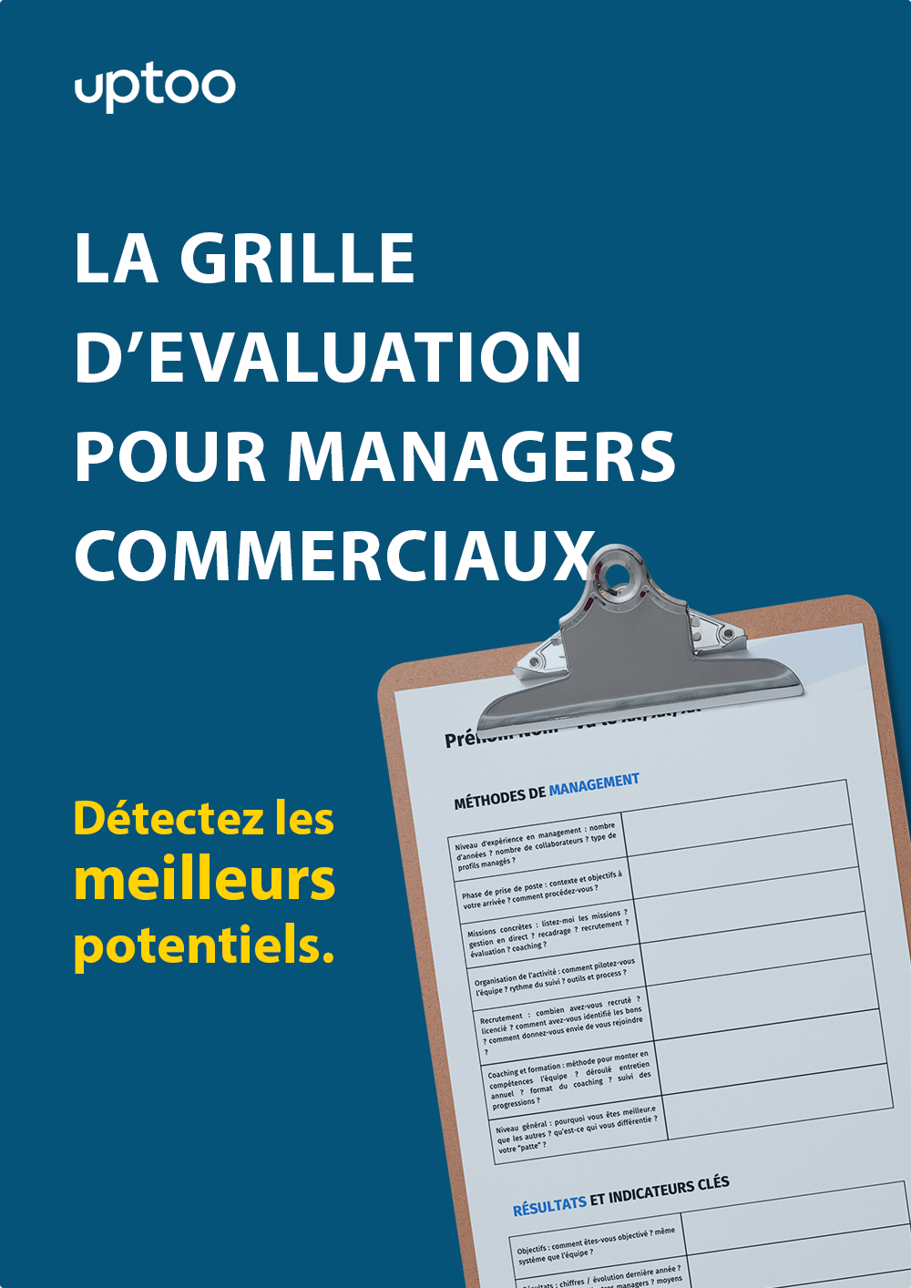 grille evaluation pour manager commercial