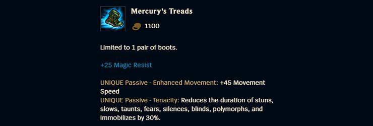 Mercury's Treads