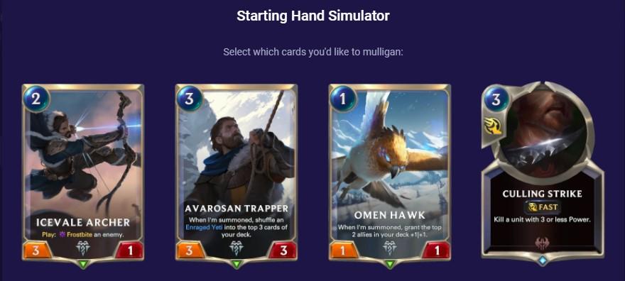 starting hand simulator kuvira