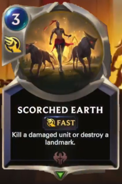 scorched earth reveal