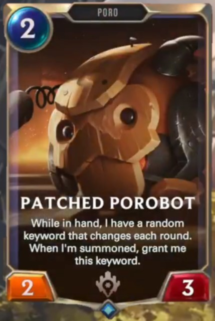 patched porobot reveal