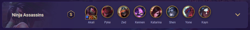 tft ninja assassins