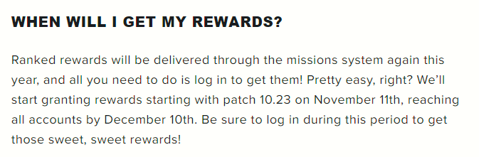 When will you get your rewards