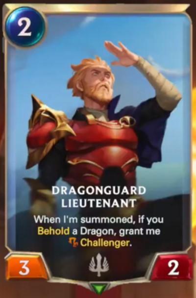 dragonguard lieutenant reveal