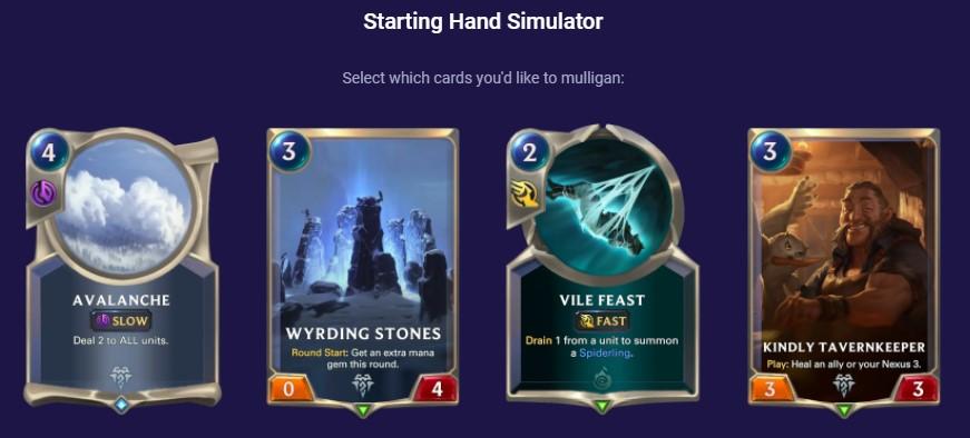 ftr warmother starting hand simulator vs aggro