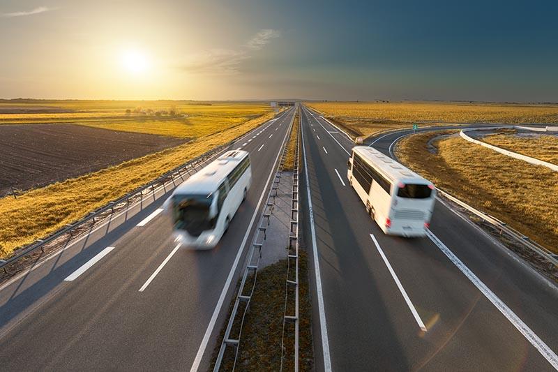 Bus in Highway