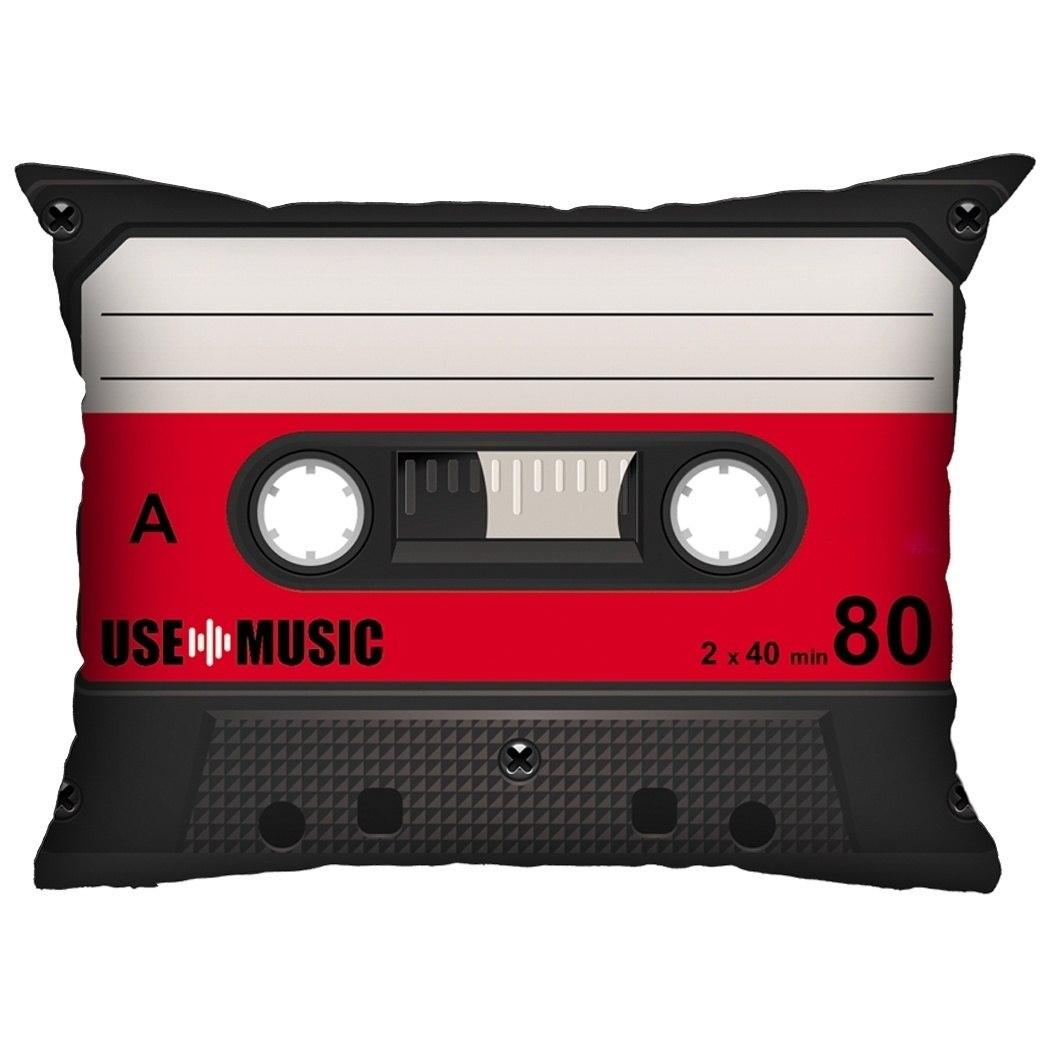 Almofada Fita-Cassete Vermelha