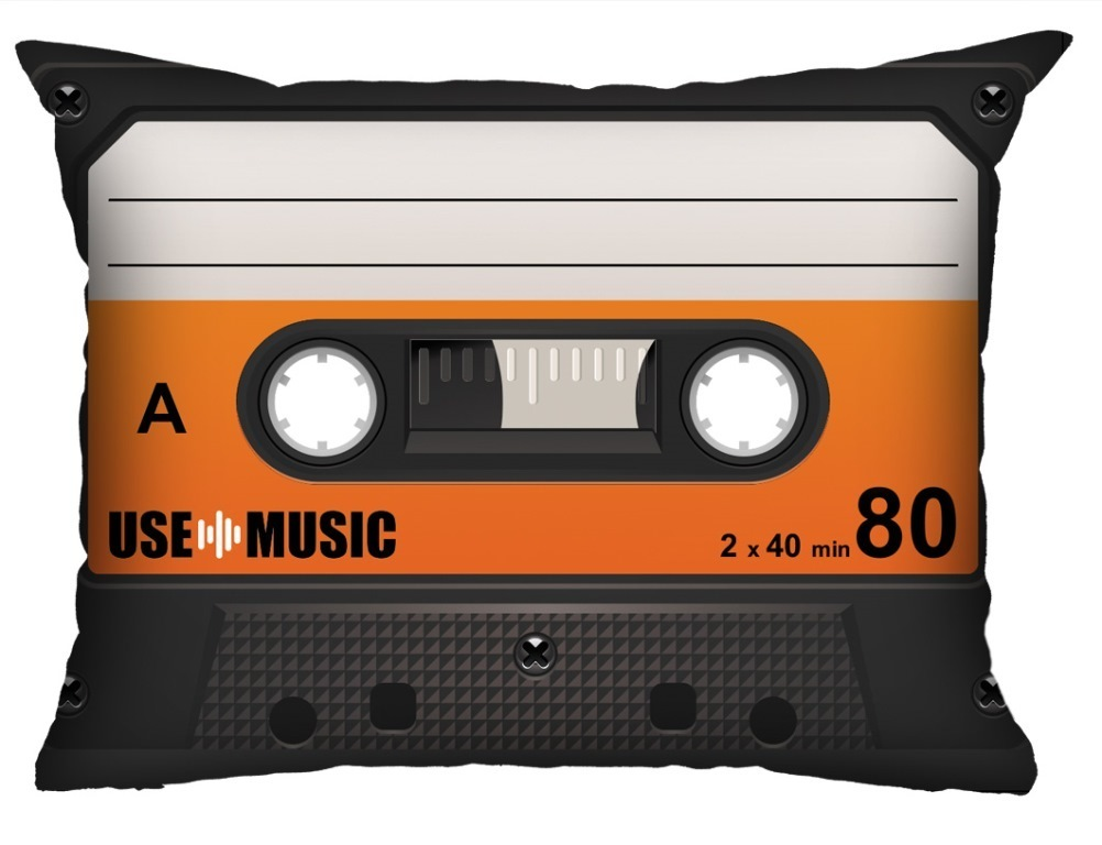 Almofada Fita-Cassete Laranja