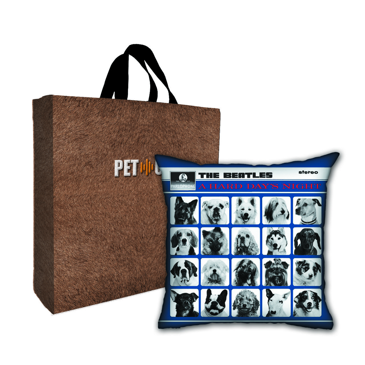 Kit Almofada & Sacola Bege Pet Use - A Dog Days Night - Cachorros