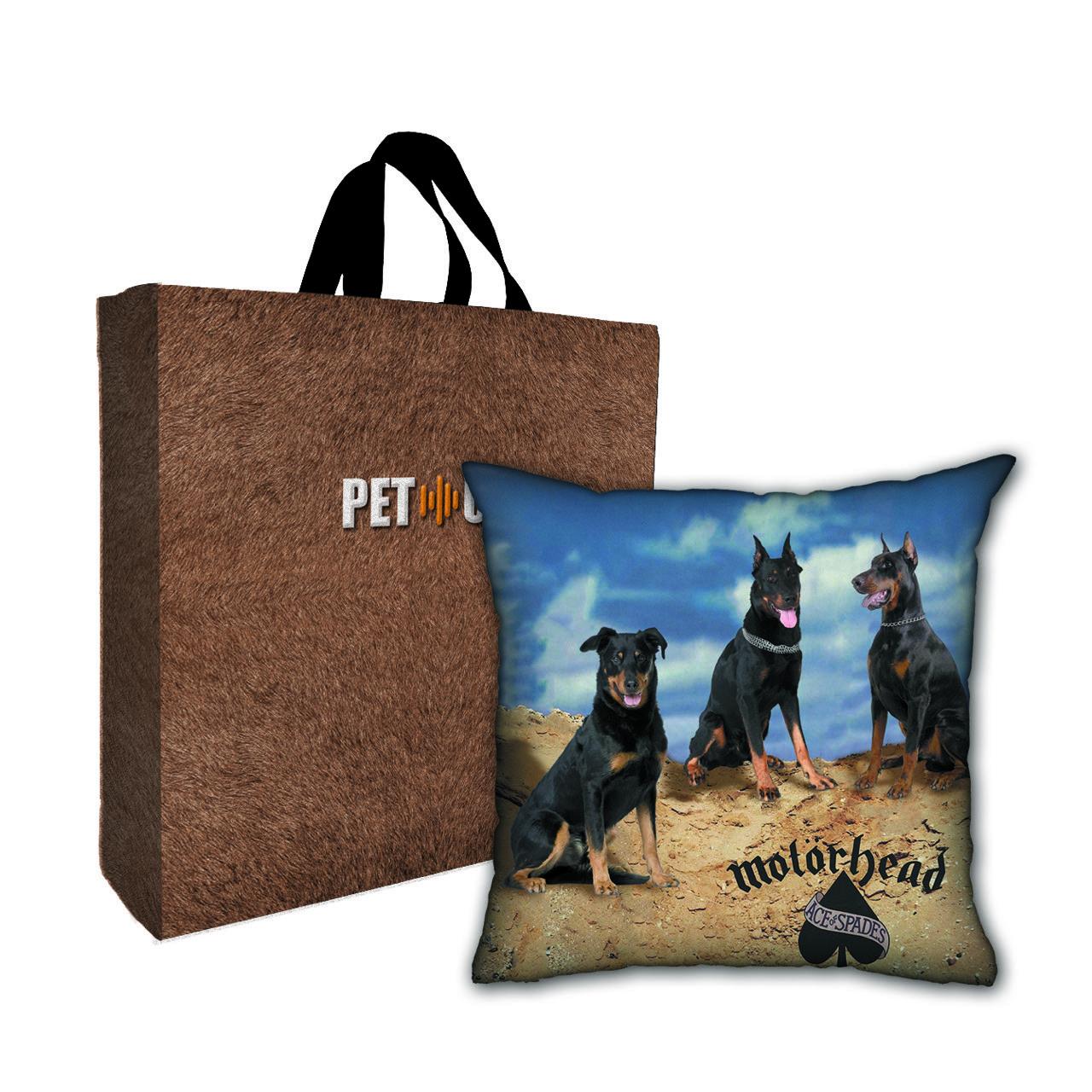 Kit Almofada & Sacola Bege Pet Use - Motordogs - Cachorros