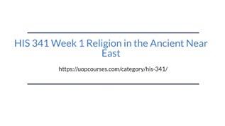 HIS 341 Week 2 Ancient World Worksheet: Week 2