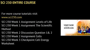 SCI 230 Courses - sci230dotcom by incrediblew.orld333 on emaze