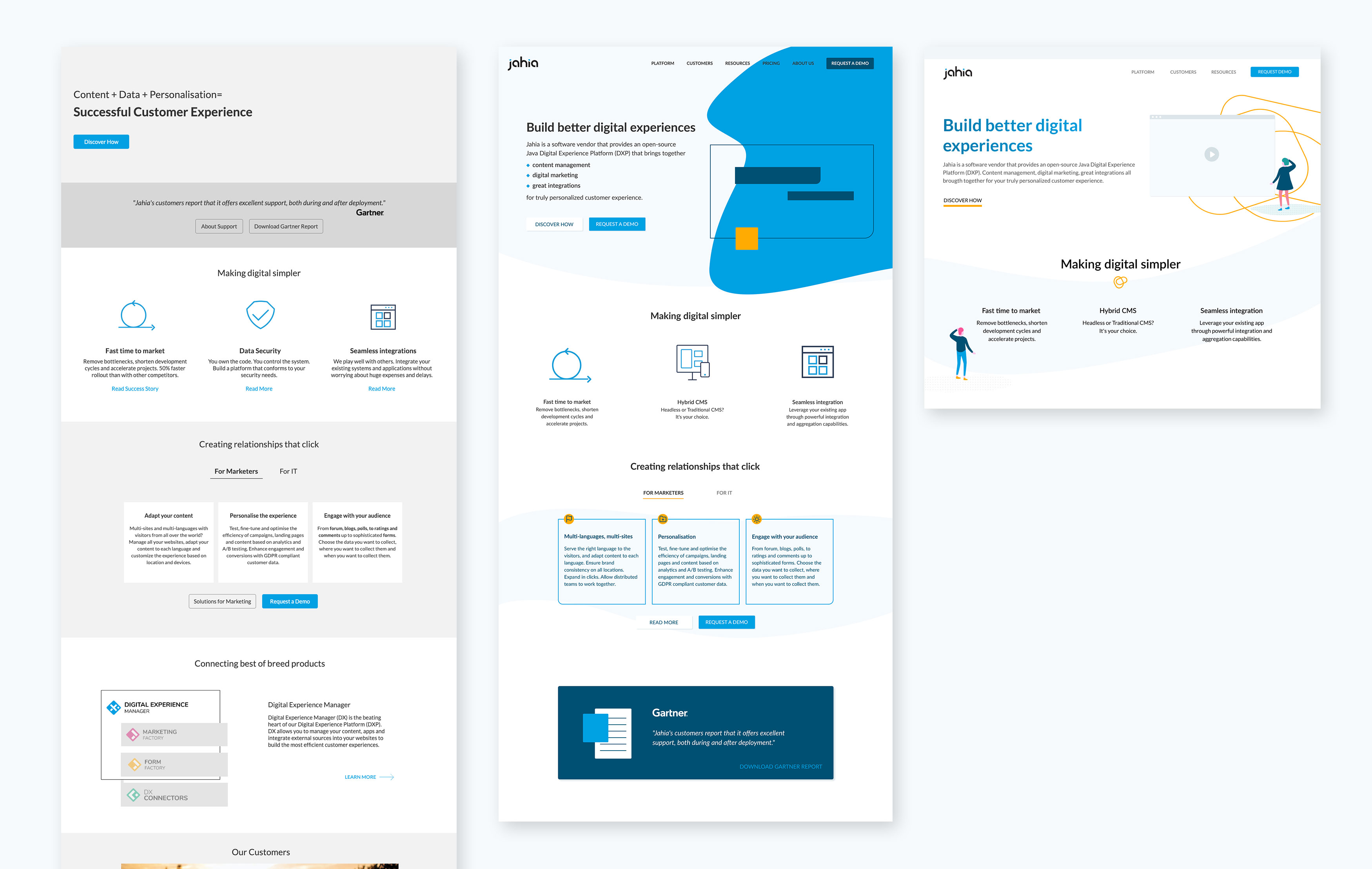 The first home page prototype and UI ideations