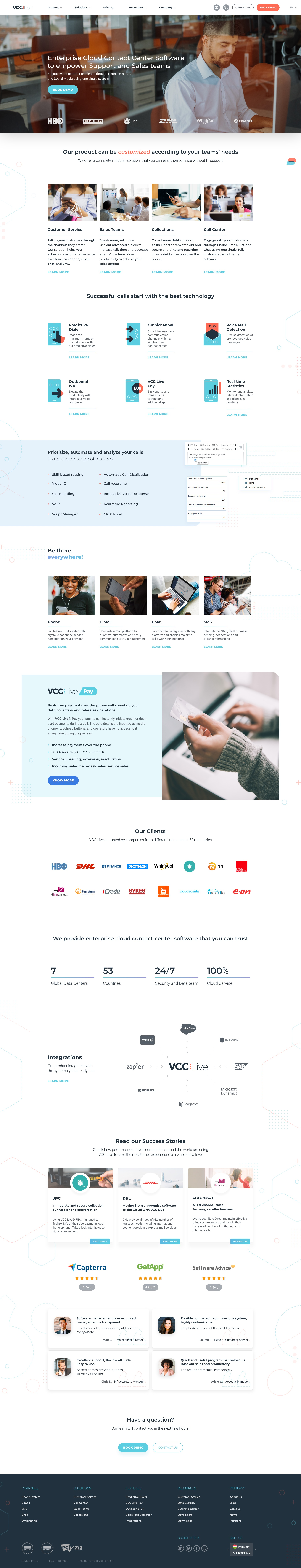 VCC Live Home Page
