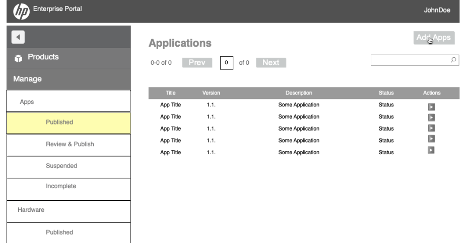 HP Access Catalog: App Submission