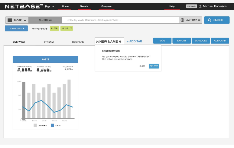 NetBase Pro: Dashboard Structure