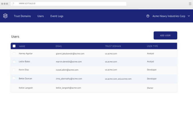 Scytale Enterprise: User Management